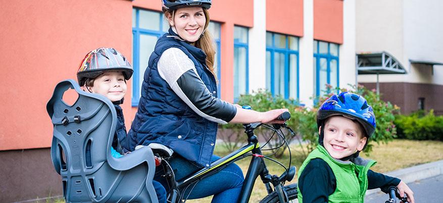 Enkelt att cykla med små barn